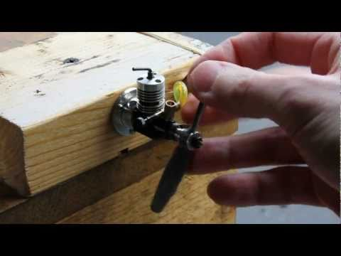 micro - This is a video of the tiny 0.1CC AE diesel two stroke engine. My example shows so-so worksmanship, but the piston and liner fit was acceptable. The tank scr...