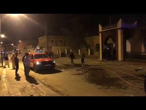 إحراق المحكمة الادارية بتندوف احتجاجا على نتائج الانتخابات