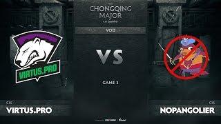 Virtus.pro vs NoPangolier, Game 3, CIS Qualifiers The Chongqing Major