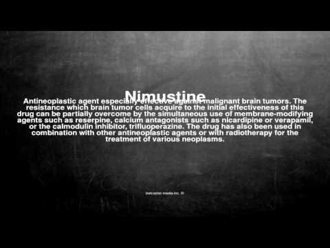 Medical vocabulary: What does Nimustine mean