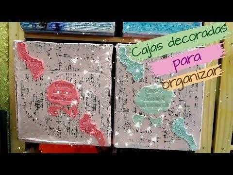 Uñas decoradas - CAJAS DECORADAS PARA ORGANIZAR