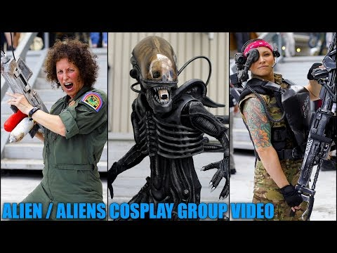 Alien / Aliens Cosplay Group Video