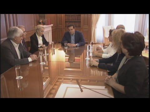 Συνάντηση του πρωθυπουργού με τους προέδρους των Ανώτατων Δικαστηρίων