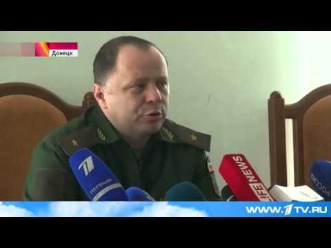 В зоне конфликта на юго-востоке Украины у населенного пункта Марьинка идут бои -1TV 2015.06.03 21:06