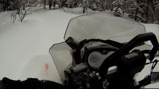 1. Sunday ride with my Ski-Doo Renegade Backcountry in deep snow
