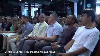 """31/12/2017 – CULTO DOMINGO (MANHÃ) – PR MÁRCIO VALADÃO """"2018 O ANO DA PERSEVERANÇA"""""""