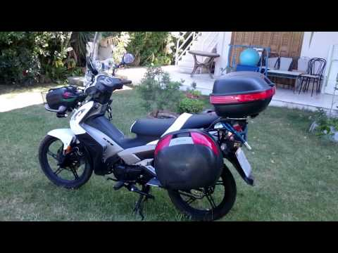kymco Jetix 125 cub converted to a touring motorcycle
