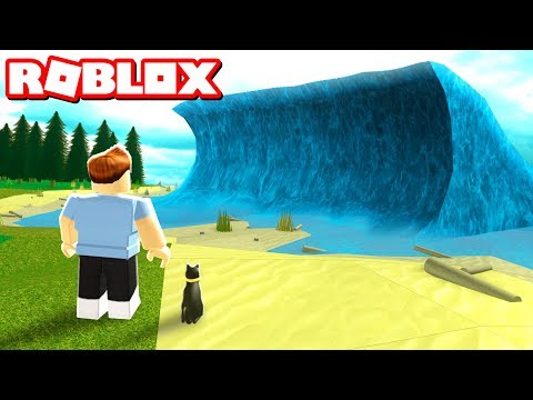 SURVIVE THE MEGA WAVE IN ROBLOX