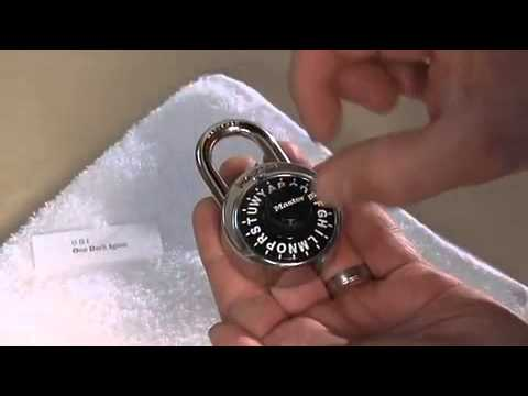master combination lock serial number