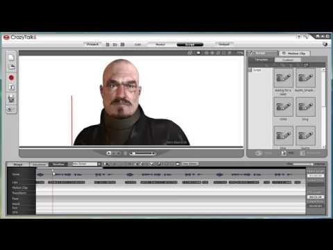 CrazyTalk6 Tutorial – Expressions in Key Editor