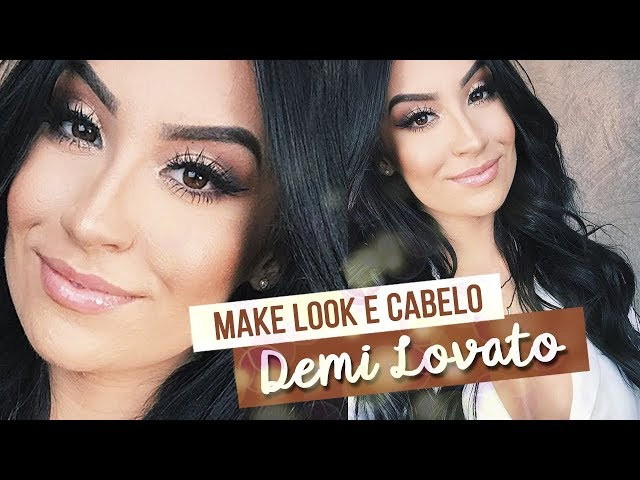 MAKE LOOK E CABELO | Inspirado na Demi Lovato - Boca Rosa