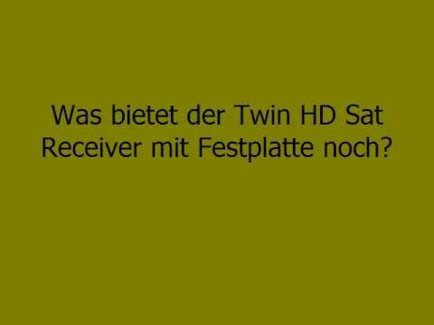Twin HD Sat Receiver mit Festplatte - Video
