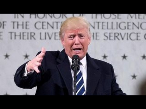 President Trump slams media during speech to the CIA