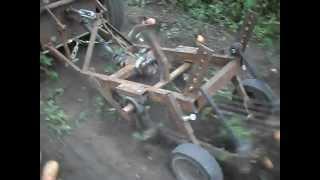 Мини-трактор. Копка картошки