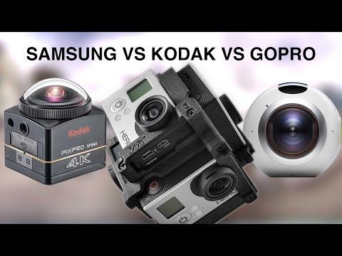 360 camera showdown - Samsung vs Kodak vs GoPro (видео)