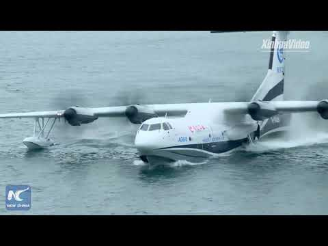 Aerial View: China's AG600 Amphibious Aircraft Makes Maiden Flight From Water