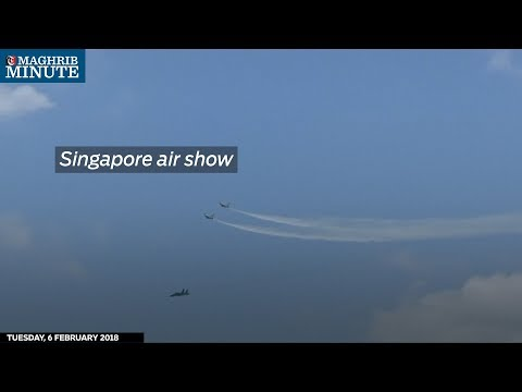 The Singapore Airshow kicked off today