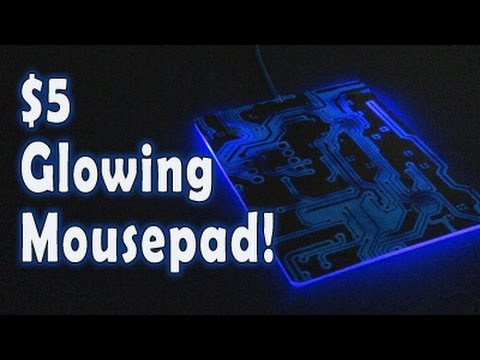 glowing - Make a GLOWING mousepad that lights up your gaming action! More videos at: http://www.kipkay.com Join the Kipkay Fan Club! http://kipkay.com/fanclub Subscrib...