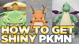 How to Get Shiny Pokemon in Pokemon Let's Go Pikachu & Eevee