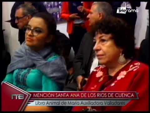Mención Santa Ana de los Ríos de Cuenca libro Animal de María Auxiliadora Valladares