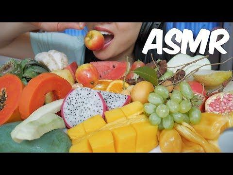 ASMR Exotic Fruit Platter (Different Texture EATING SOUNDS) No Talking   SAS-ASMR