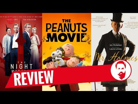 KINO TO GO | 31 – The Night Manager, Peanuts - Der Film, Mr. Holmes + Verlosung Filmkritik Trailer