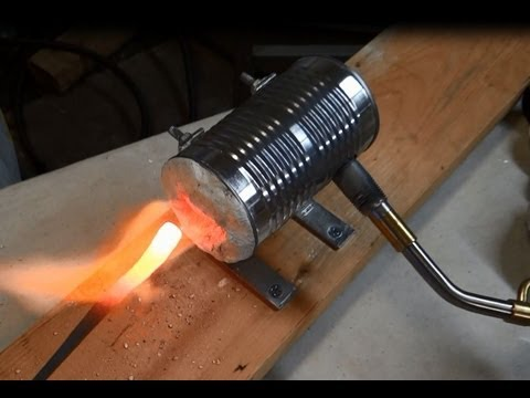homemade - Easy instructional video on how to make a small forge out of a soup can and other materials you may have around the garage. Reaches over 2000 degrees. Hot en...