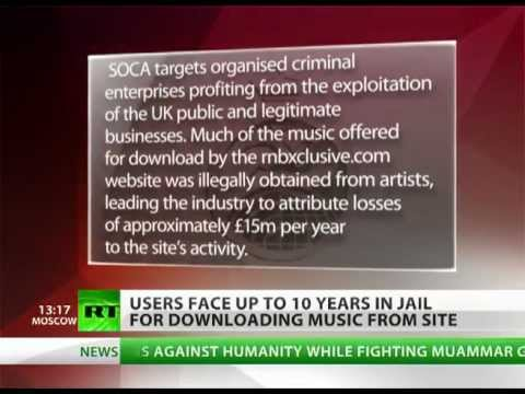 ACTA in UK 10 years in jail for a download