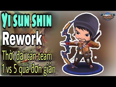 Mobile legends: YI SUN SHIN REWORK , làm lại kỹ năng, thời đại 1 vs 5 trở lại