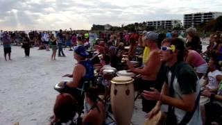 Drum Circle at Siesta Beach