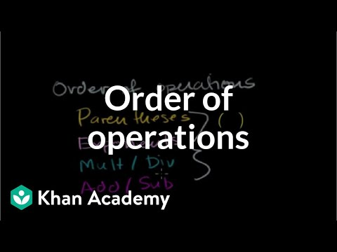 khanacademy - Learn more: http://www.khanacademy.org/video?v=ClYdw4d4OmA Order of Operations.