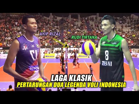 LAGA KLASIK..!! Pertarungan Dua Legenda Voli Indonesia, Ayip Rizal (Samator) vs Rudi Tirtana (BNI)