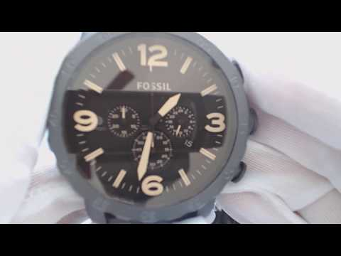 , title : 'Men's Fossil Nate Chronograph Brown Watch JR1356'