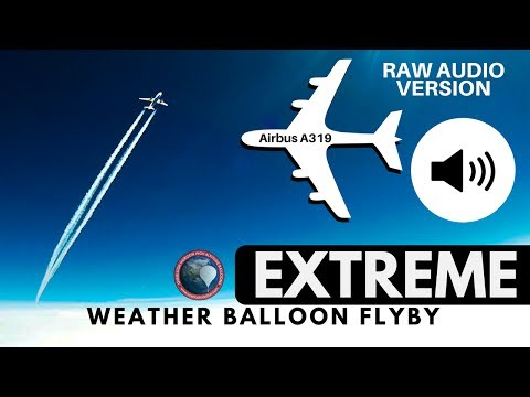 GoPro on a High Altitude Weather Balloon Captures Extremely Close Flyby of an Airbus A319