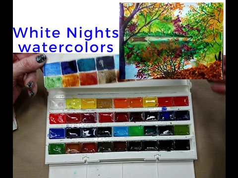 White Nights 36 Watercolors Review & Painting