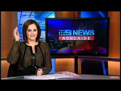 NEWS BLOOPER: 9 News Adelaide: Kate Collins Blooper