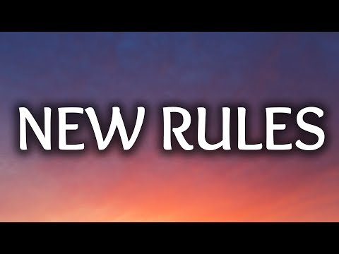 , title : 'Dua Lipa ‒ New Rules (Lyrics / Lyric Video)'