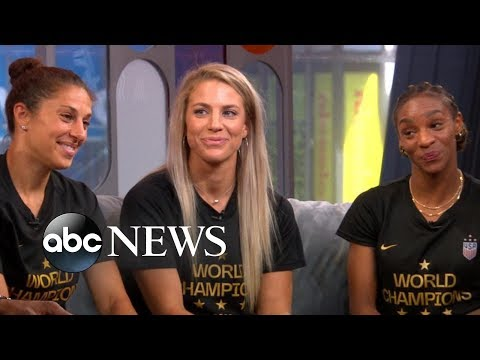 Michael And Keke Welcome Members Of The US Women's Soccer Team
