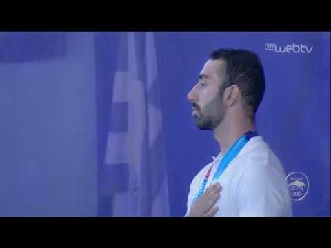 Παράκτιοι Μεσογειακοί Αγώνες | FIN SWIMMING | Η απονομή στους Αντωνιάδη και Μπόνια |26/08/19| ΕΡΤ