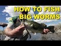 How To Fish Big Worms (the Best Ways) | Bass Fishing Techniques