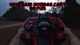 7. 2019 Honda Rancher 420 ride and review