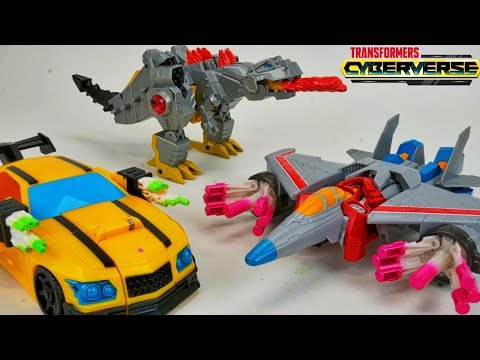 Transformers Cyberverse Ultra Class Wave 1 Action Attackers Grimlock Bee Starscream
