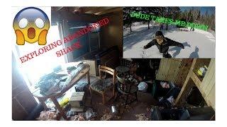 6. EXPLORING ABANDONED SHACK || SNOWMOBILE RIDING || TAKE DOWN