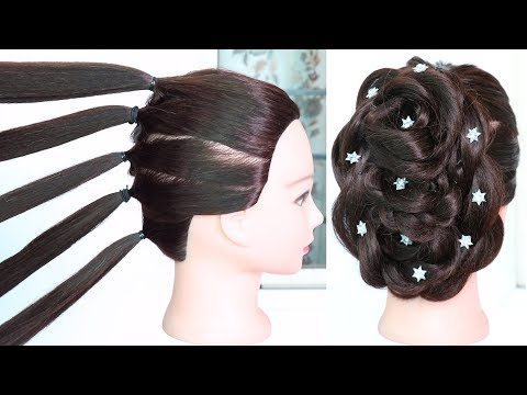 new hairstyle with trick using five pony  wedding hairstyle  party hairstyle  beautiful hairstyle