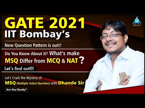 What's make MSQ Differ from MCQ & NAT?| Gate 2021 | Let's Crack the Mystery of MSQ with Dhande Sir