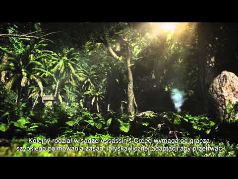 Więcej na http://www.assassinscreed.com Assassin's Creed IV Black Flag opowiada historię kapitana imieniem  Edward Kenway, pirata szkolonego przez Asasynów. W tym zwiastunie prezentującym rozgrywkę Będziecie mogli zobaczyć egzotyczne miasta i gęste dżun