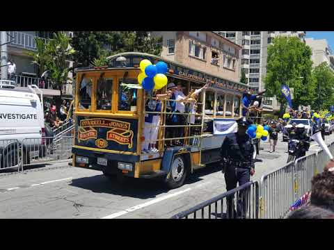 Golden State Warriors Basketball Championship parade in Oakland. Part 1(2018).