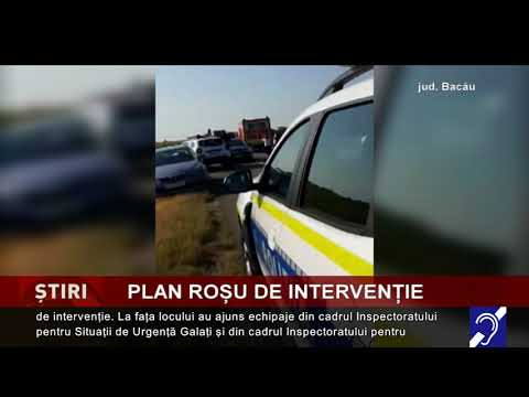 Plan roșu de intervenție, pe o șosea din județul Bacău