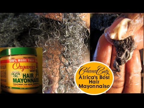Africa's Best ORGANICS Hair Mayonnaise on Natural Hair Tutorial & Review
