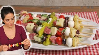 Antipasto Skewers | Ep. 1307 by Laura in the Kitchen